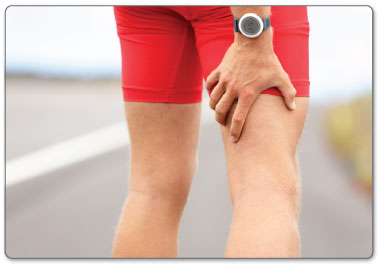 Use ice and heat to deal with your strained hamstring.